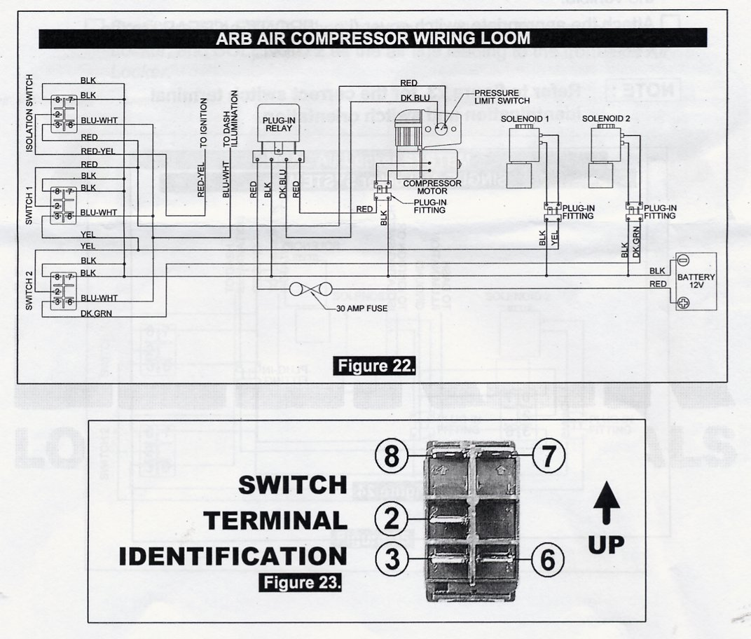 ARB Air Compressor Wiring Loom (JPEG) arb compressor wiring diagram on arb download wirning diagrams arb ckma12 wiring diagram at fashall.co